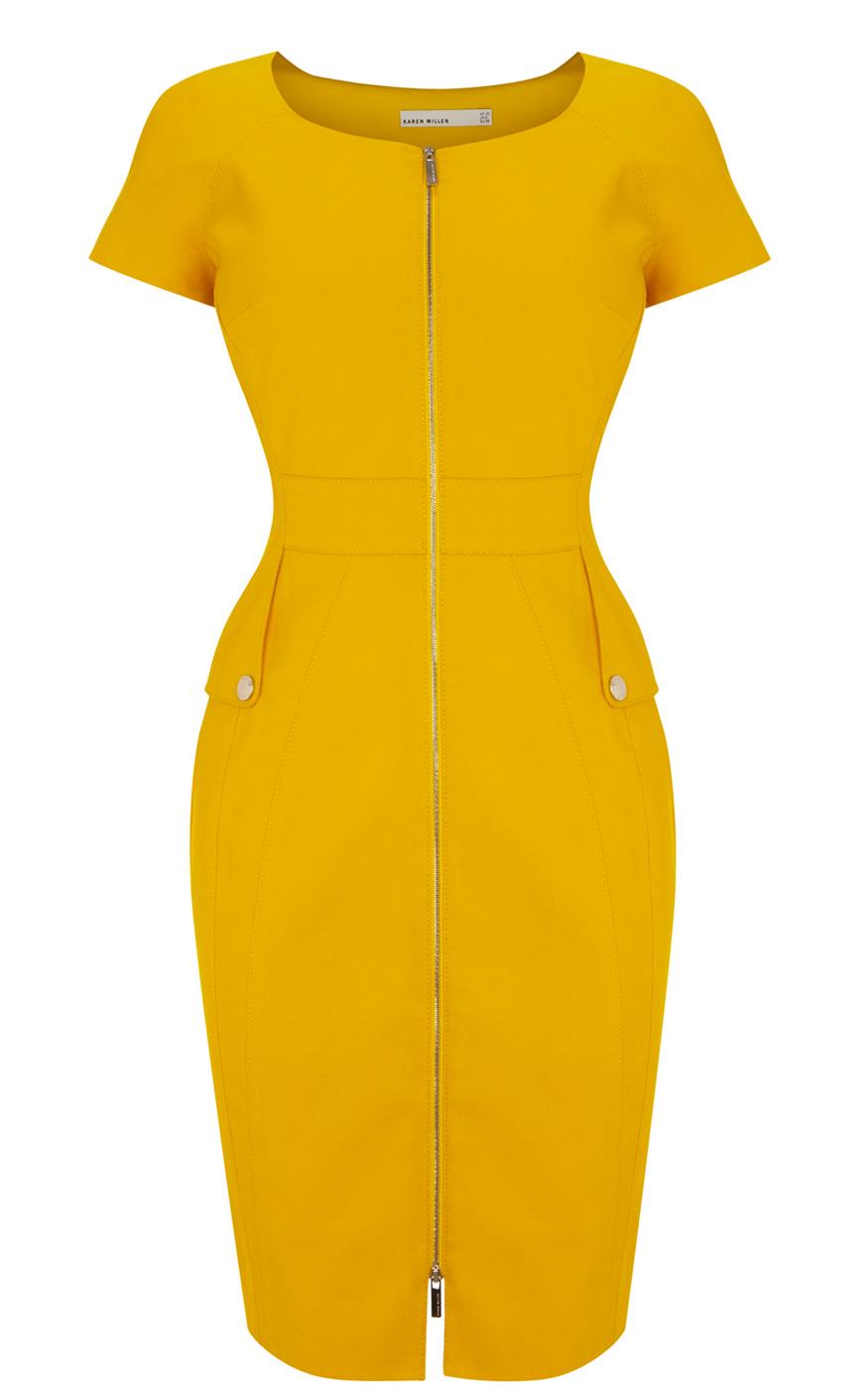 Платье футляр с молнией спереди