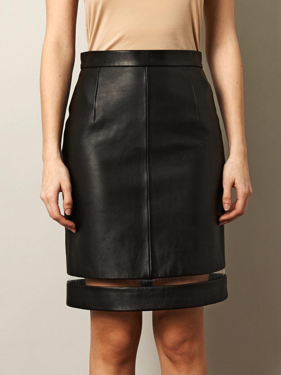 Фото модели кожаных юбок