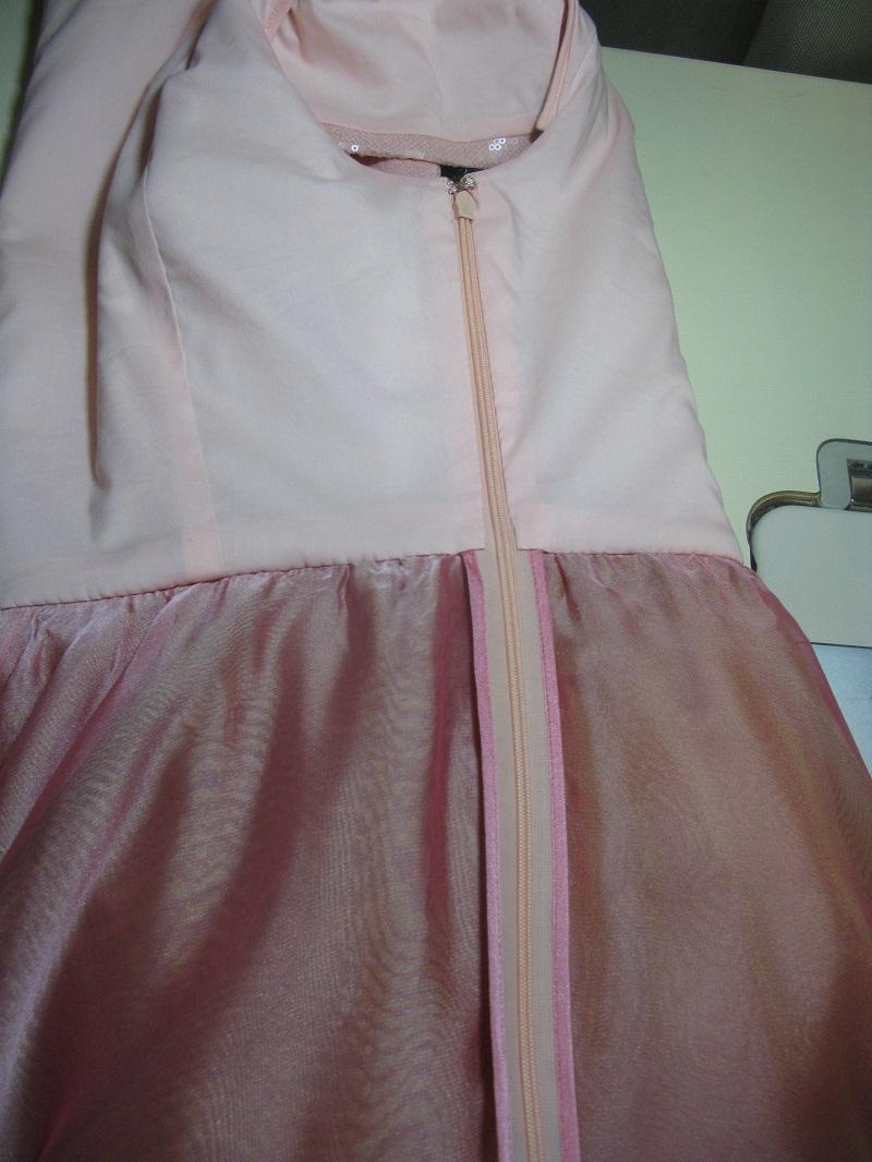 Вшить молнию в пышную юбку