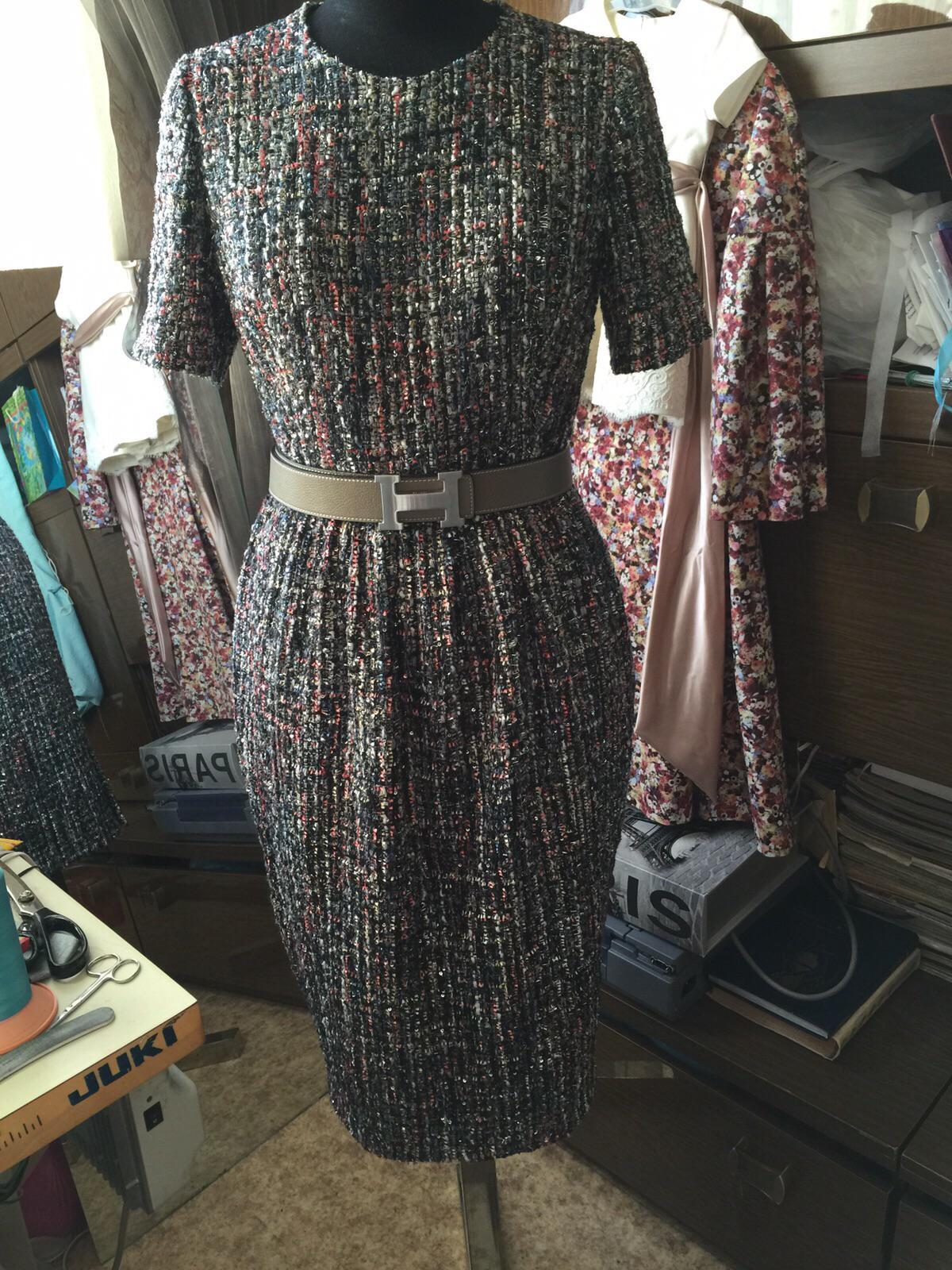 Сшить платье из ткани шанель 72