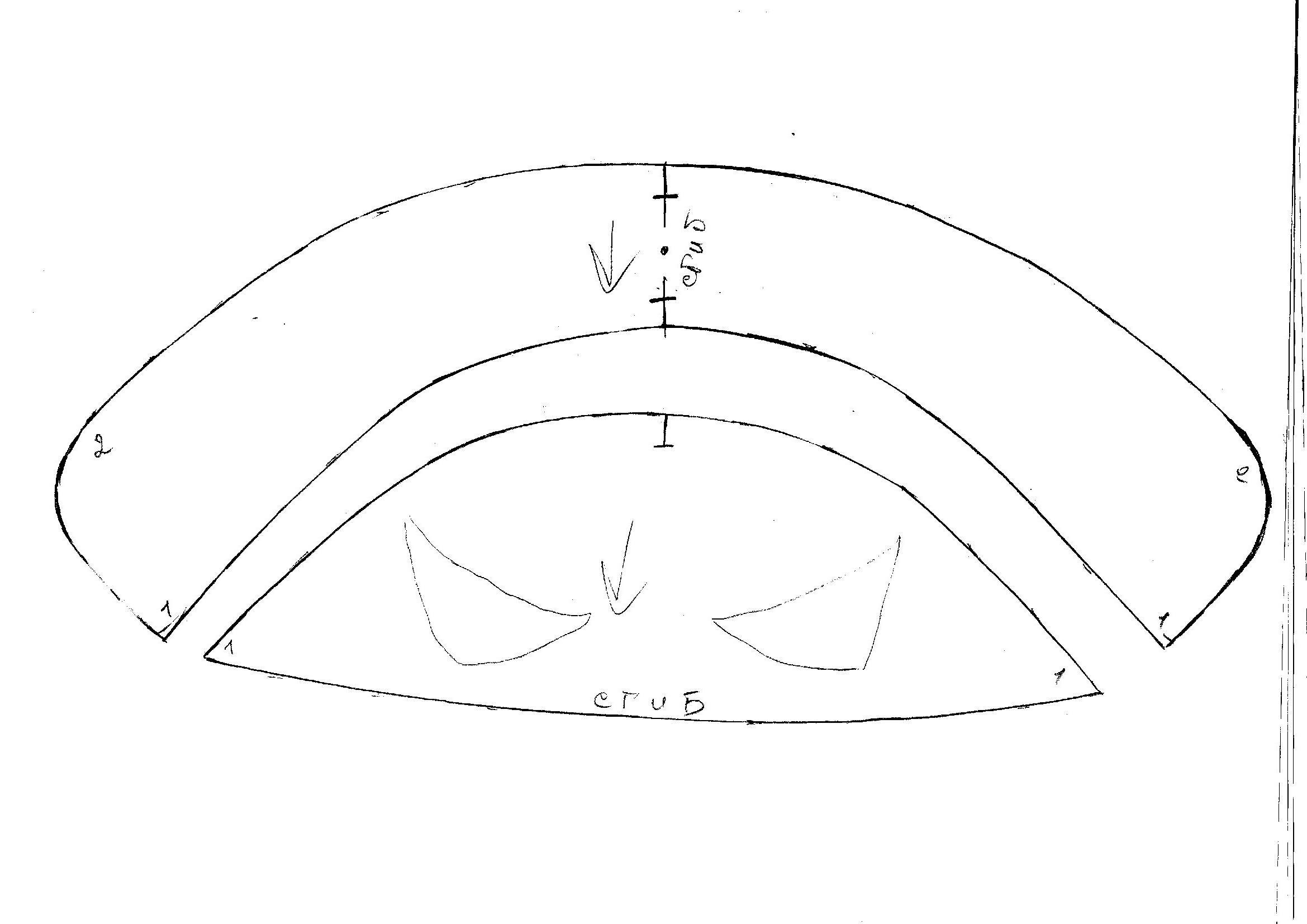 Как сшить треуголку