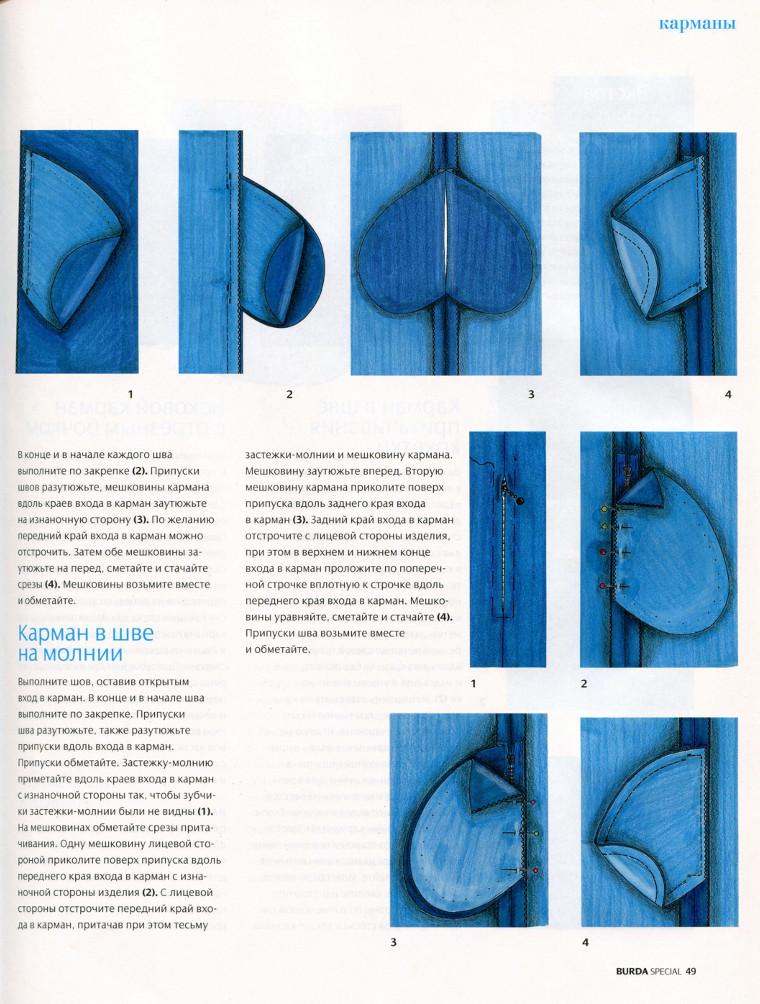 Карманы в боковых швах. Как сделать карман в боковом шве 141