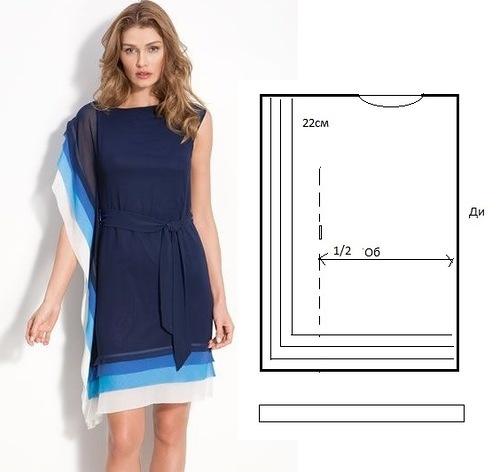 Фасон простого платья своими руками
