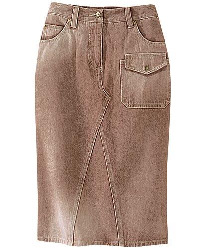 Перешить юбки из джинсовых брюк