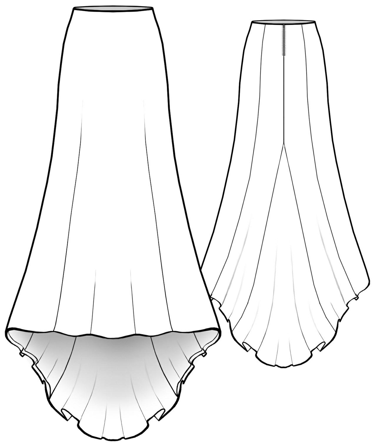 Выкройки для разноуровневой юбки