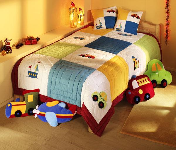 Покрывало на кровать в детскую для мальчика своими руками