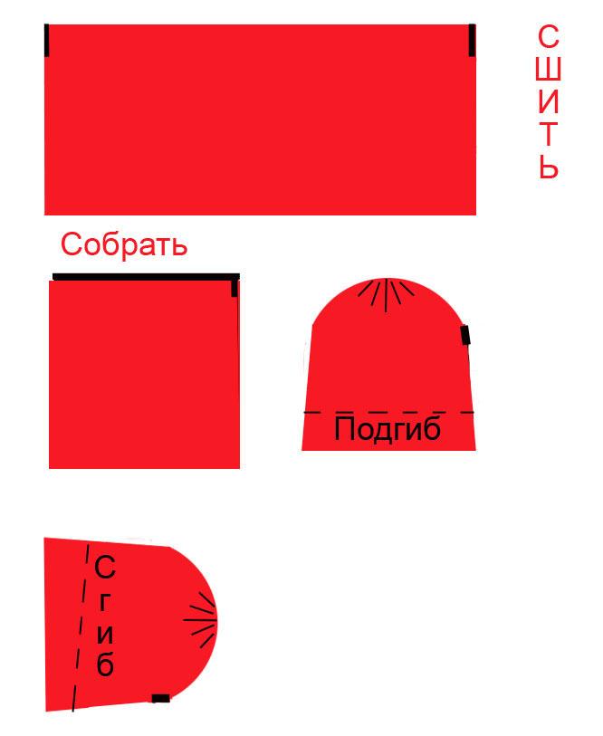 Шапка красной шапочки сшить своими руками