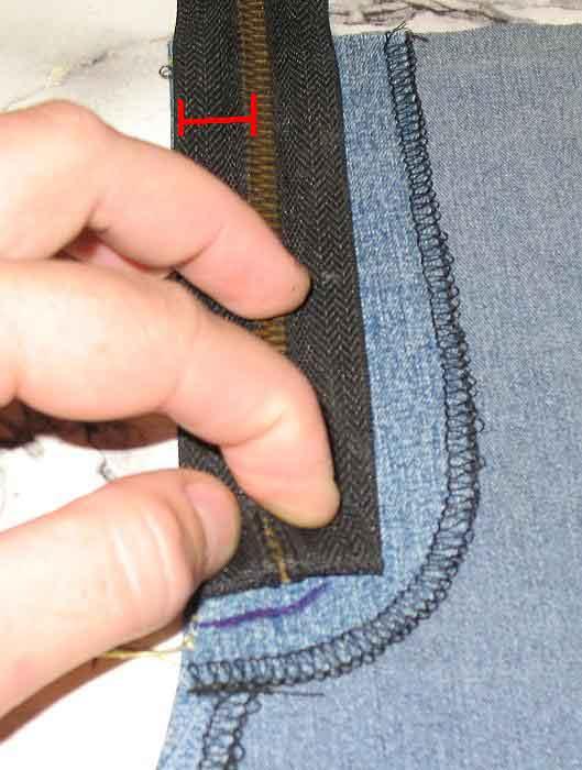 Вшиваем молнию в джинсы мастер класс