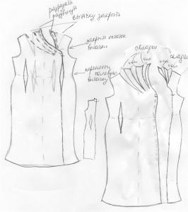 Как сшить блузку водопадом 1