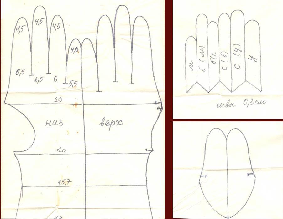 Как сшить перчатку своими руками