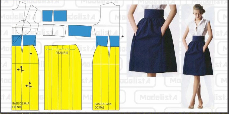 Сшить юбку со складками для начинающих