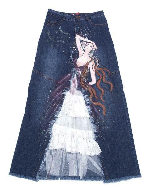 Джинсовые шорты переделать в юбку