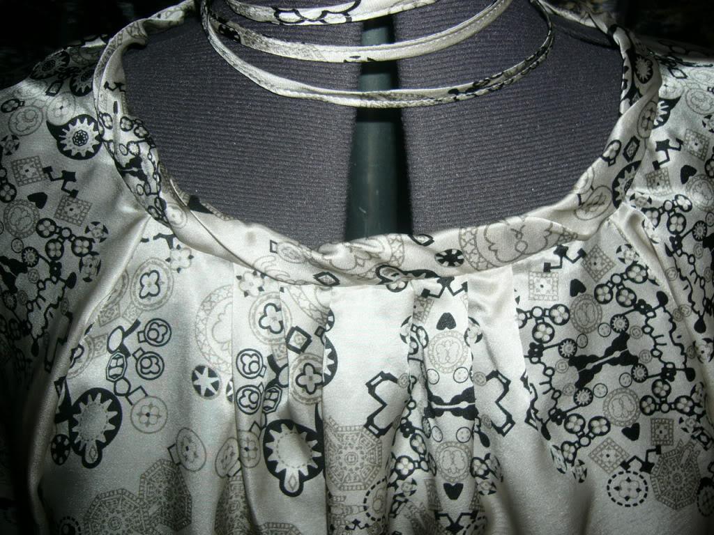 Обработка горловины в шифоновых платьях