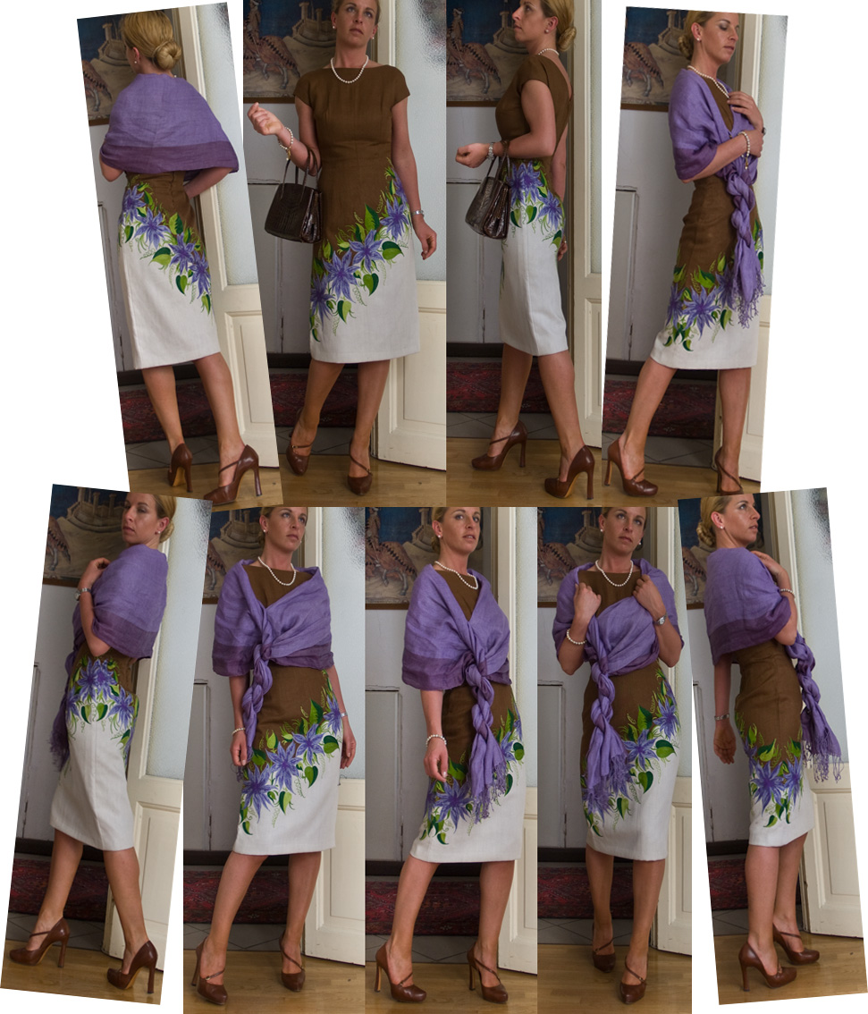 Как надставить платье в длину