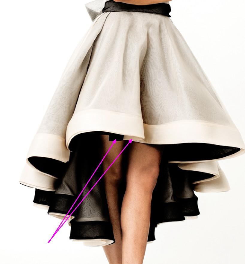Выкройка юбки удлиненные сзади
