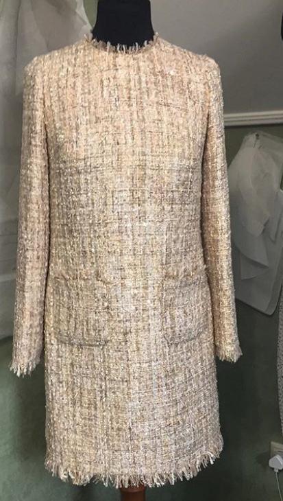 Сшить платье из ткани шанель 14