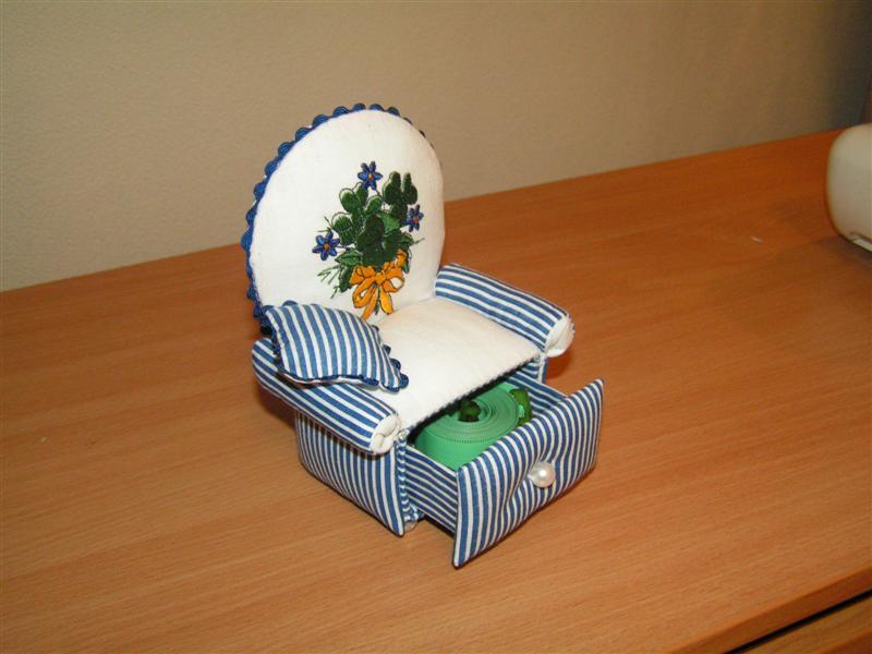 Игольница своими руками стульчик мастер класс 11