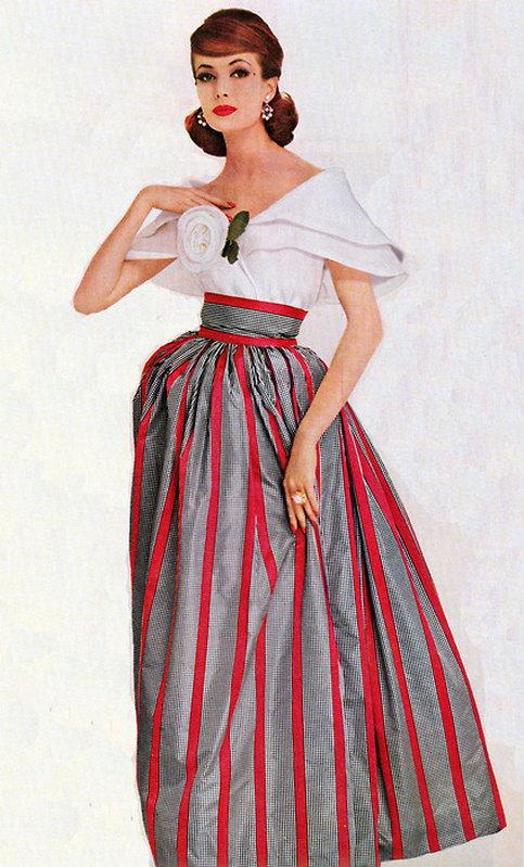 Мода 50 х 60 х годов платья и прически