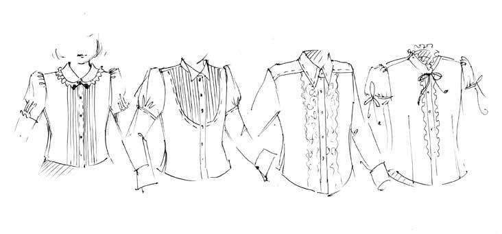 Выкройки блузок для школы