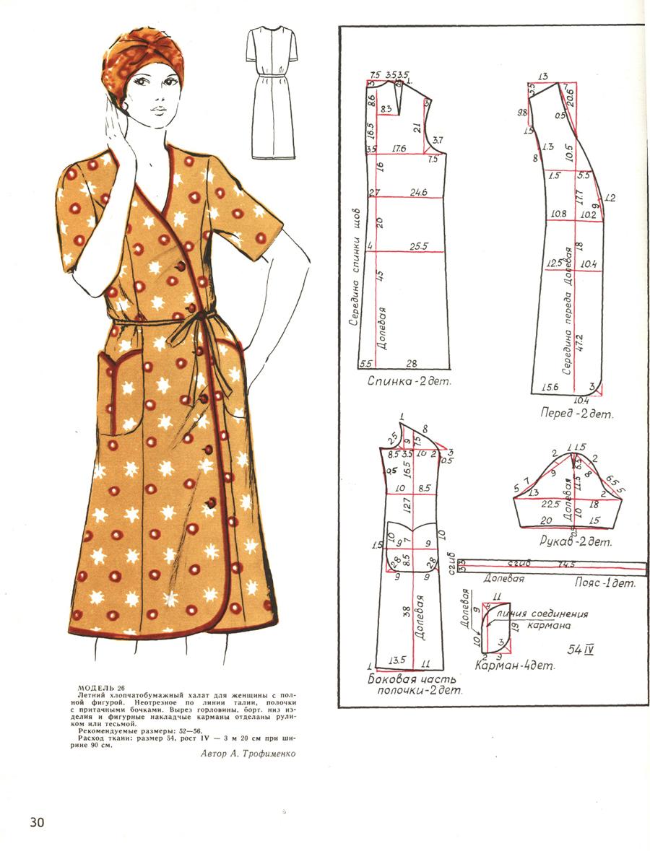 Кройка и шитье халатов