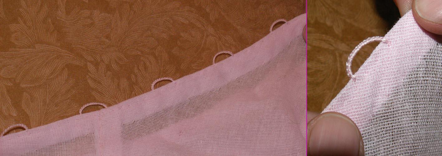 Как сделать петли для тюли