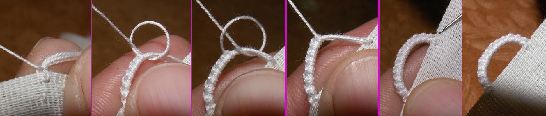 Как сделать воздушные петли для пуговиц из ниток