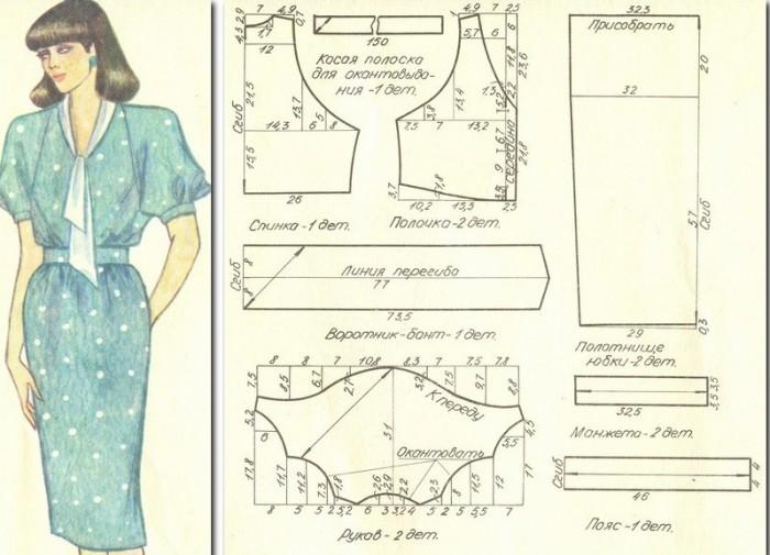 Как сшить платье с рукавом реглан