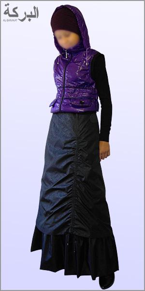 Длинная юбка на синтепоне