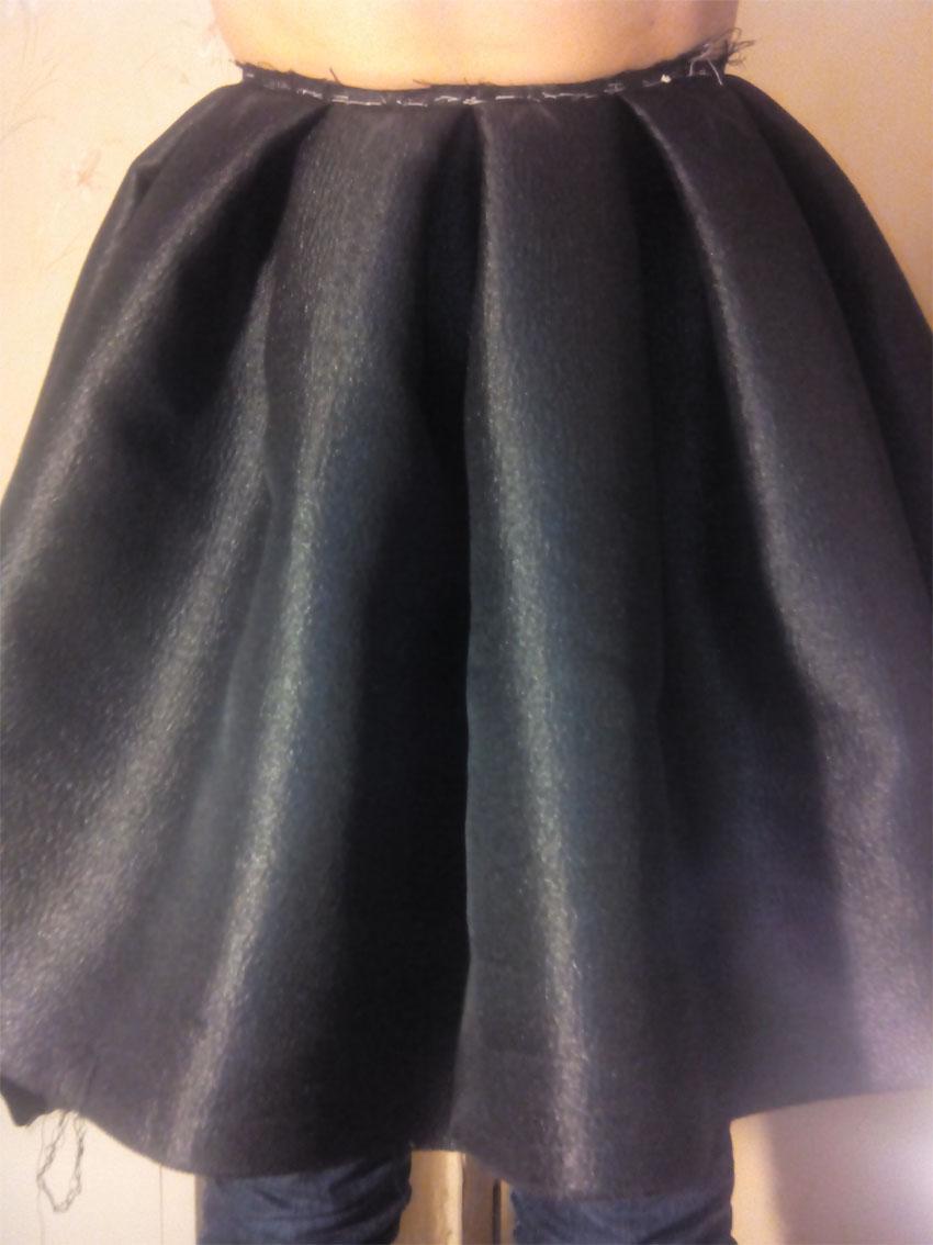 Ушиваем юбку в складку