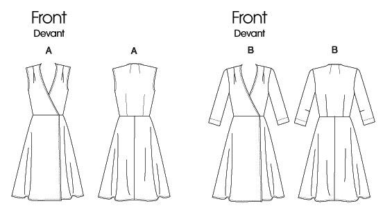 Как сделать выкройку на платье с запахом