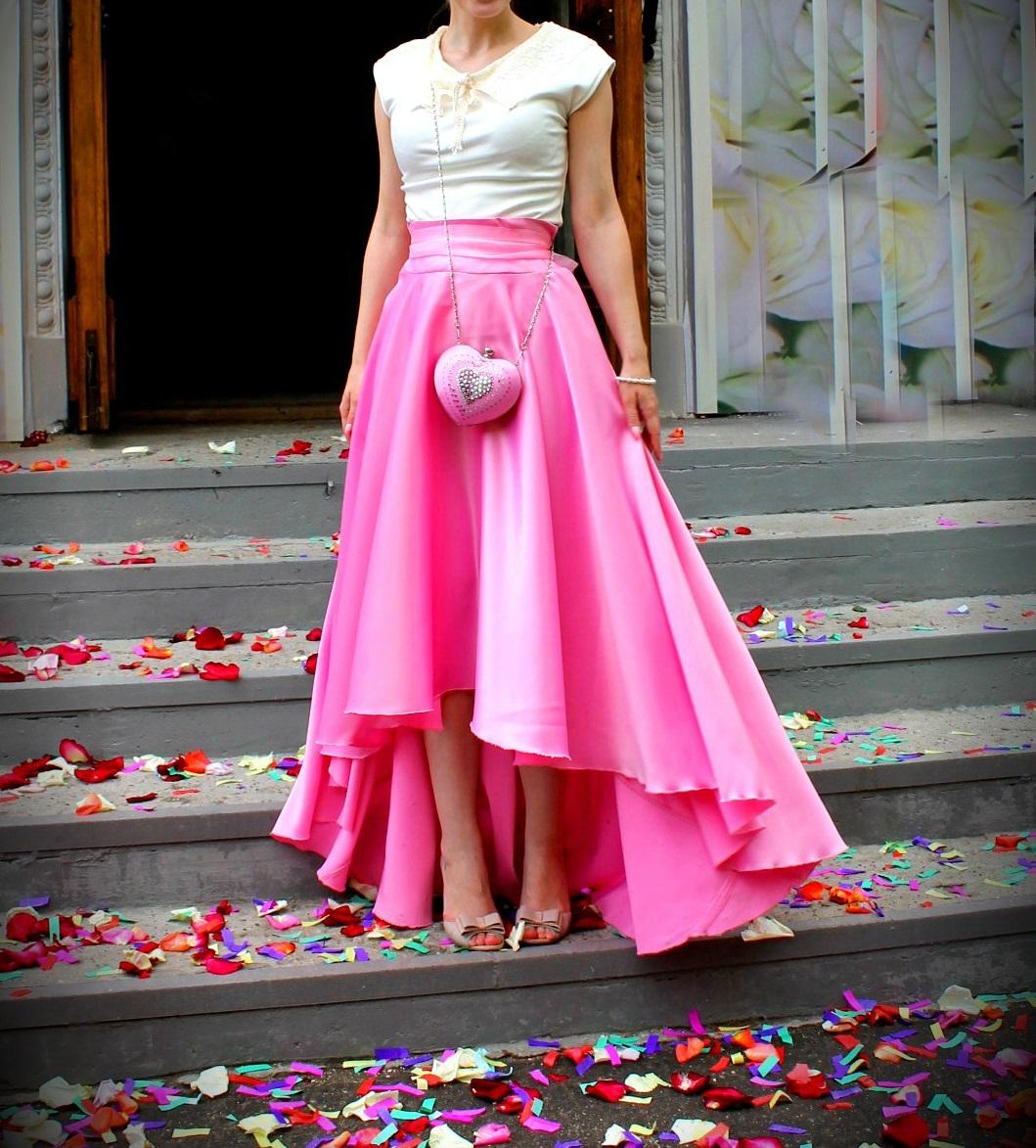 Выкройка юбки перед короче зада