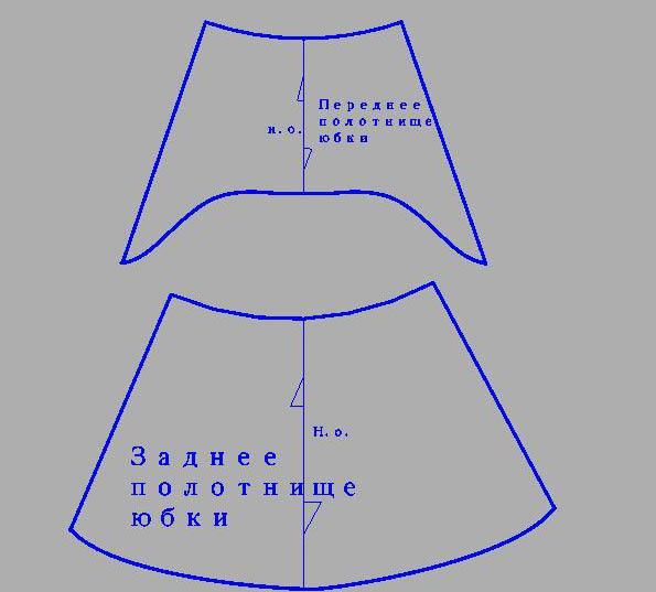 Как сшить юбку перед короче 192
