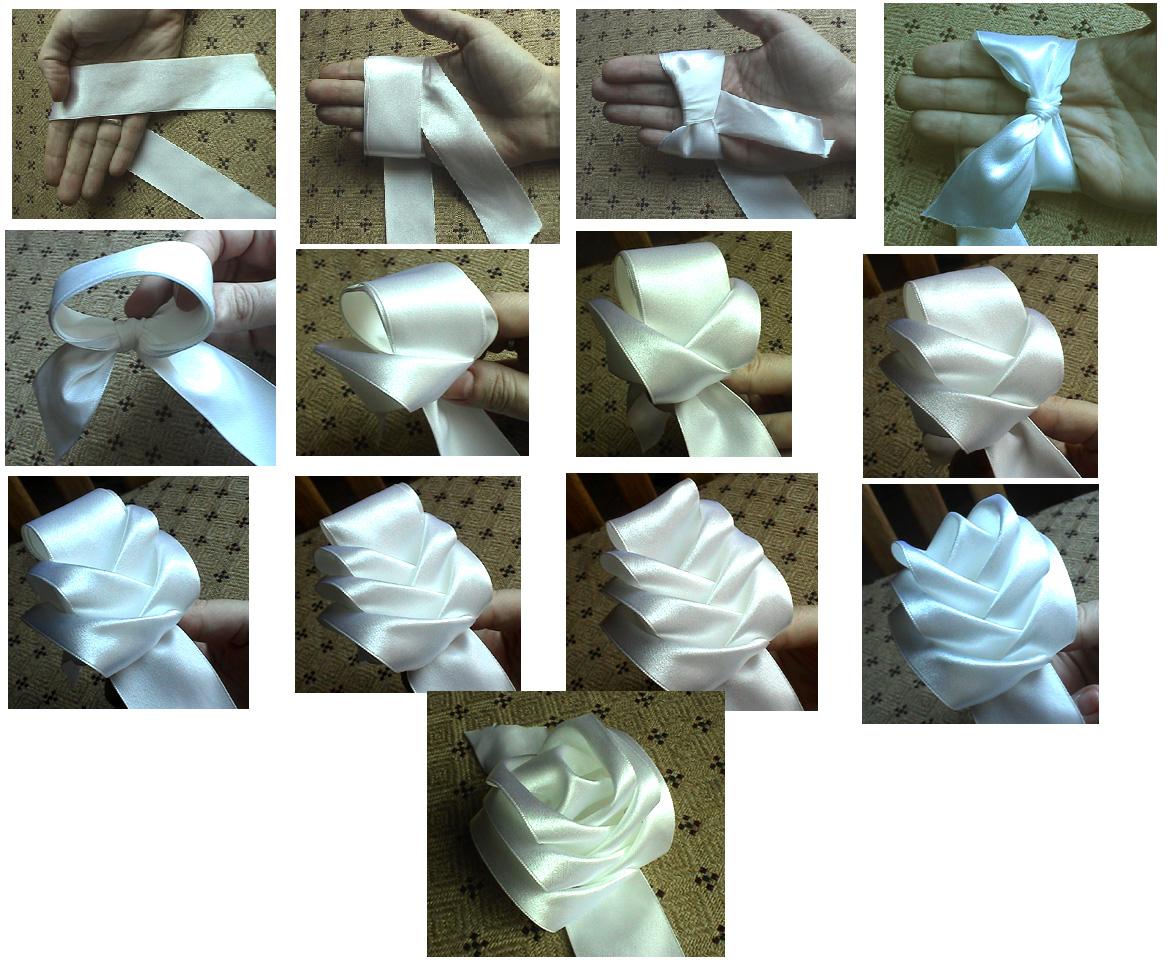 Банты из ленты для цветов своими руками