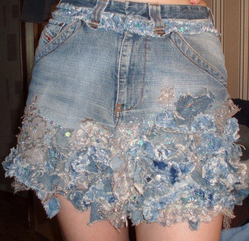 Джинсовую юбку своими руками