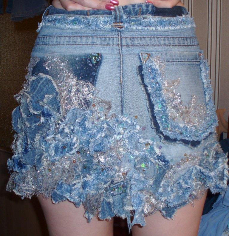 Как сшить юбку из джинса своими руками