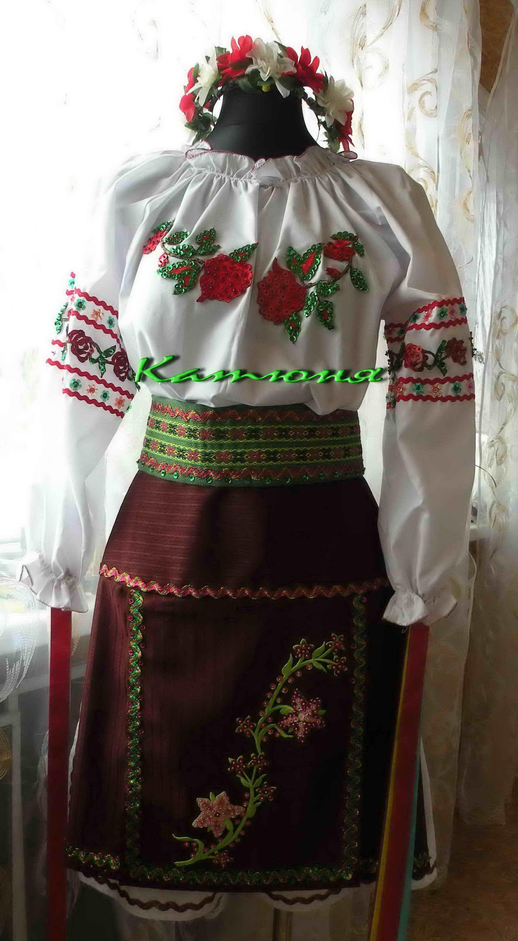 Украинский женский костюм своими руками