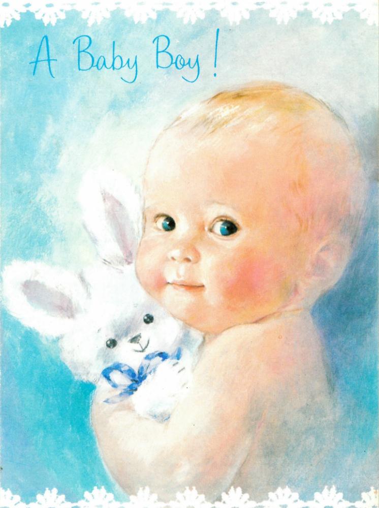 Большие открытки с ребенком