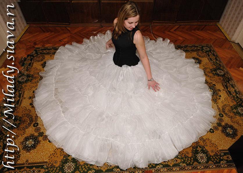 Свадебное платье своими руками пышная юбка