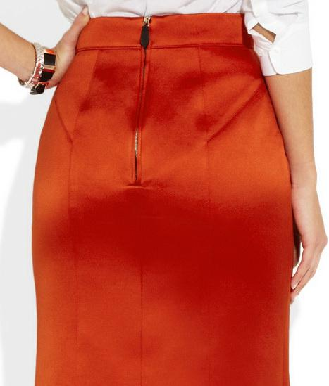 Как посадить юбку на пояс