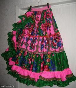 Цыганская юбка клинья