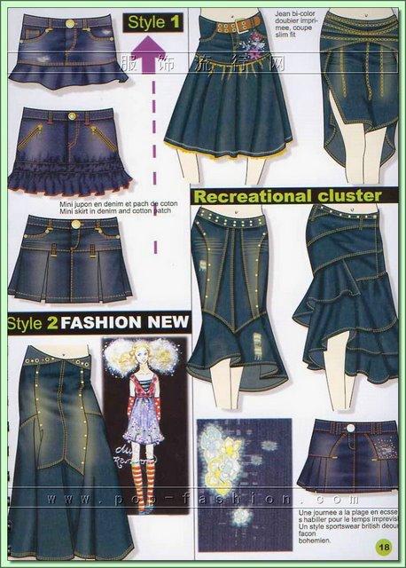 Как из джинс сделать юбку