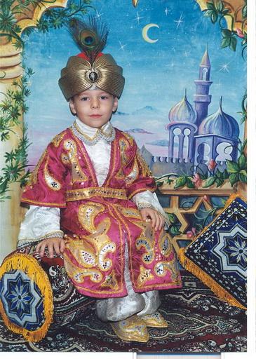 Восточный костюм мальчика на новый год