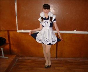 sezonmoda.ru - Школьное платье с фартуком, фото