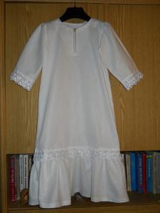 выкройка крестильной рубашки для взрослого