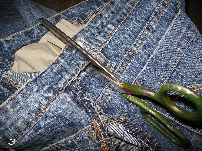 Как ушить джинсы пошагово