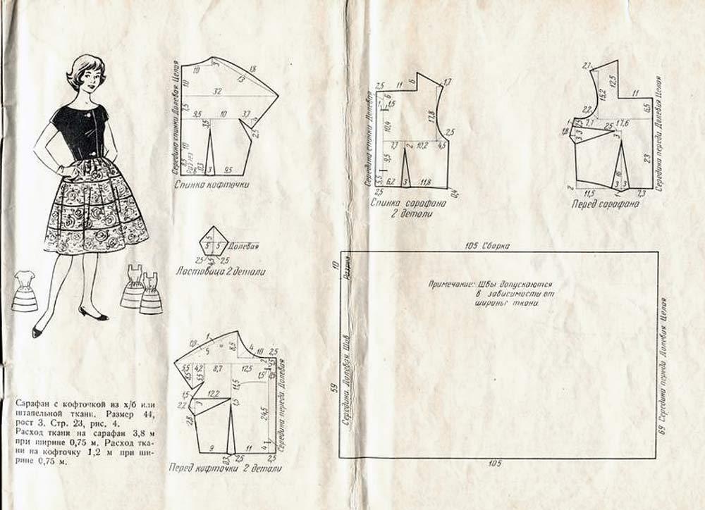 ддетские одежды с выкройками из горохого материала Октябрь года для