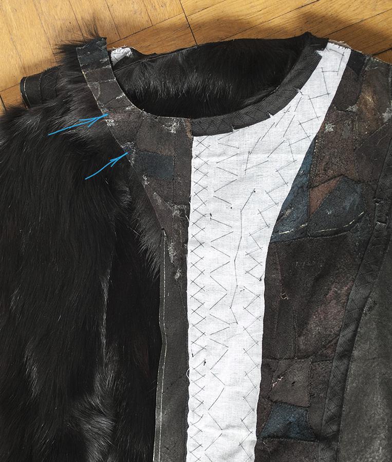 Как сшить жилет из подстежки от куртки 92