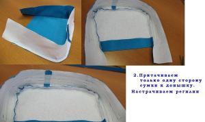 Выкройку сумки строим самостоятельно, опираясь на следующие данные: - размер сумки может быть любой...