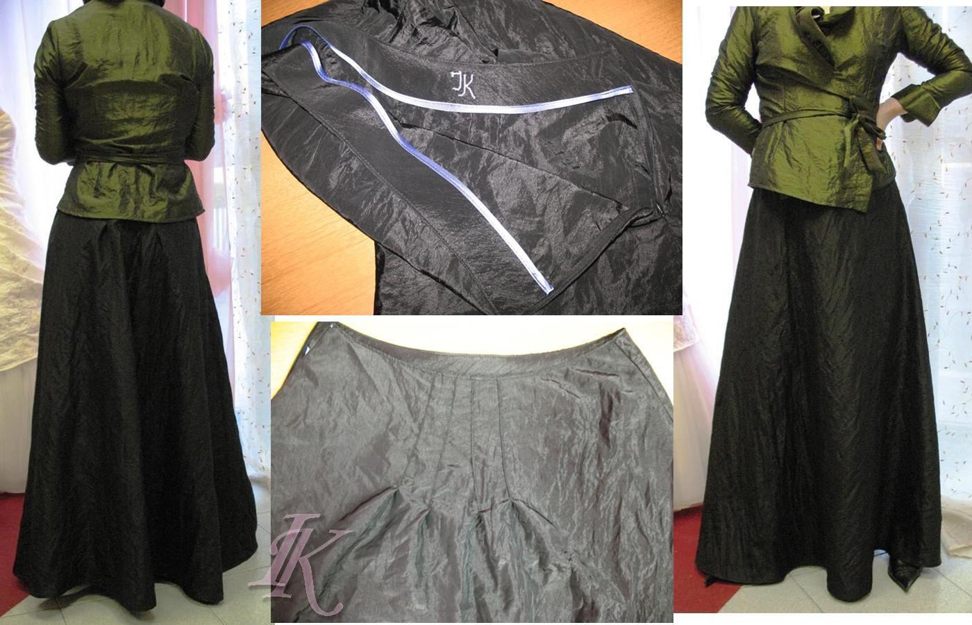 Сшить юбку из тафты