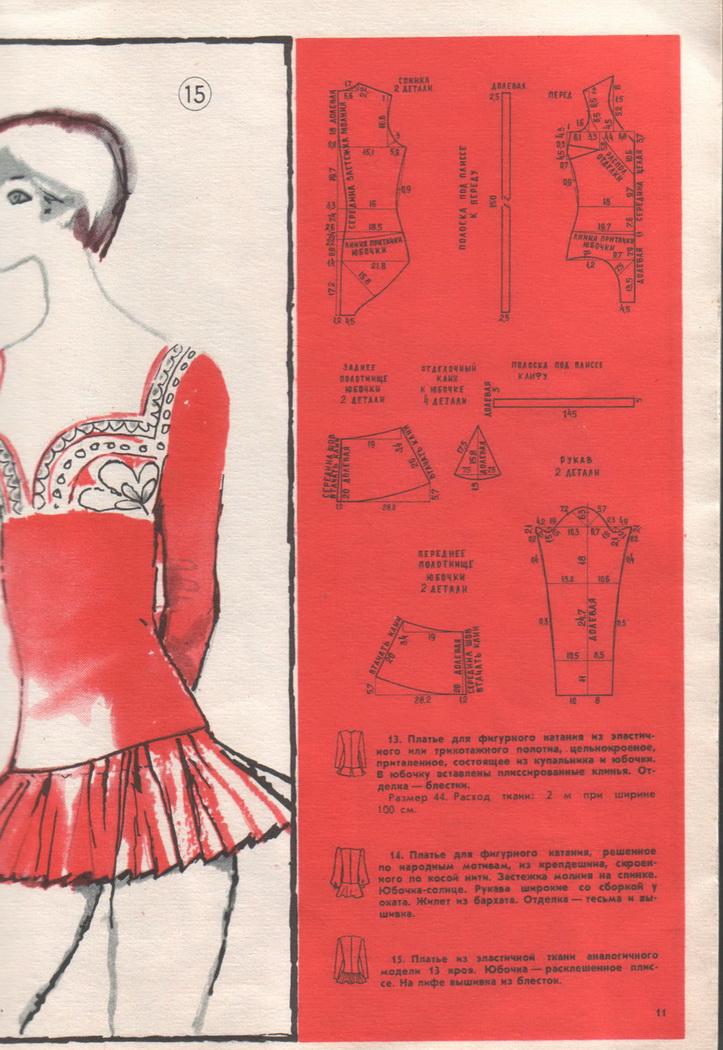 Выкройка платье для фигурного катания